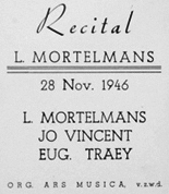 Lodewijk Mortelmans Program 03.12.1962