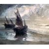 Two fisherman's boats on the beach <br />        <small>Oil on canvas - <small85>Height x Width</small85> : 79 x 109 cm - <small85>Signed</small85> : F. Mortelmans <small85>left below</small85></small>