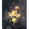 Vase with yellow roses <br />        <small>Oil on canvas - <small85>Height x Width</small85> : 67 x 55 cm - <small85>Signed</small85> : Frantz Mortelmans <small85>right below</small85></small>